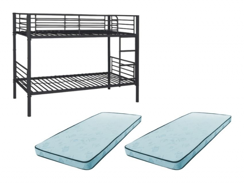 pack lit superpos rock noir 2 matelas pas cher. Black Bedroom Furniture Sets. Home Design Ideas