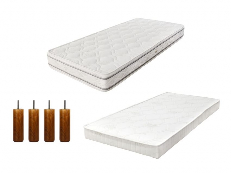 pack matelas royal 90 avec sommier tapissier et pieds pas cher. Black Bedroom Furniture Sets. Home Design Ideas