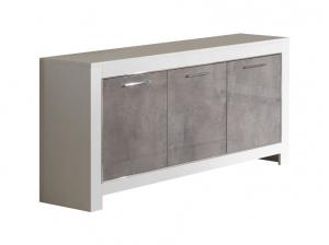 Buffet 3 portes Modena blanc marbre