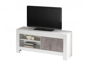 Meuble TV 112 Modena blanc marbre