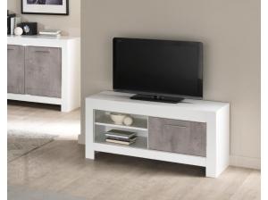 Meuble TV 112 Modena blanc et gris