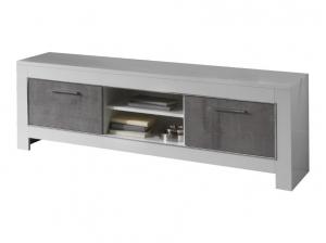 Meuble TV Modena blanc et gris