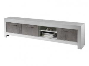 Meuble TV 207 Modena blanc et gris