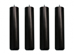 4 Pieds sommier 30 cm noire