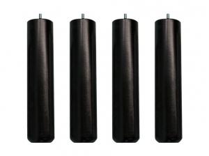 4 Pieds sommier bois noire