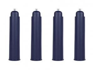 4 Pieds de sommier plastique bleu