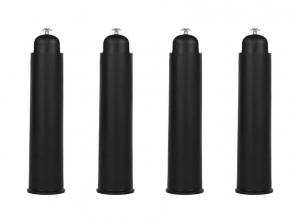 4 Pieds sommier plastique Noir