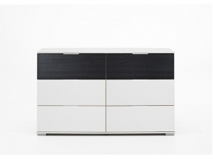 Commode Virgo 6T noir blanc
