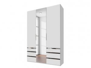 Armoire 3P Level Blanc Miroir