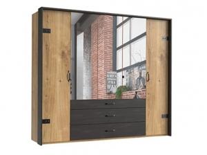 Armoire Detroit 5P 3T miroir
