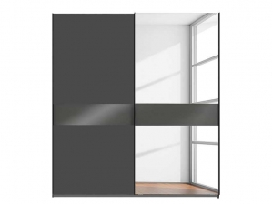 Armoire Weimar 2P coulissantes Gris