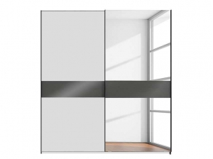 Armoire Weimar 2P coulissantes Blanc