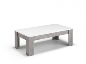 Table basse GRETA rectangulaire blanc marbre