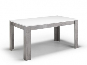 Table GRETA 160 blanc marbre