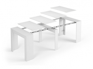 Table console blanc