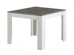 Table carrée Modena blanc marbre