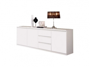 Buffet Indiana 3 portes blanc