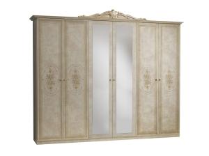 armoire Amalfi beige 6 portes