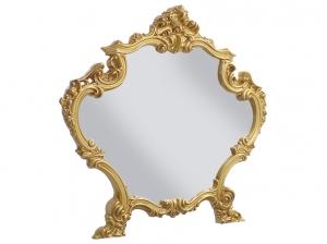 Miroir BAROCCO blanc or