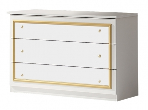 Commode BAROCCO blanc or