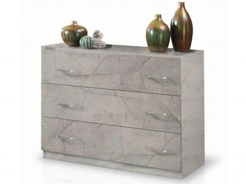 Commode Mary marbre gris