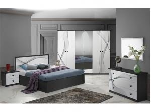 Chambre Matrix Blanc & Noir