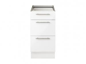 Element bas 40 cm tiroirs blanc