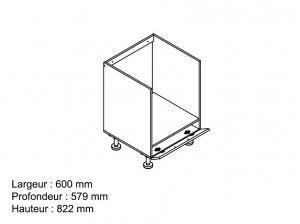Element bas 60 cm four blanc