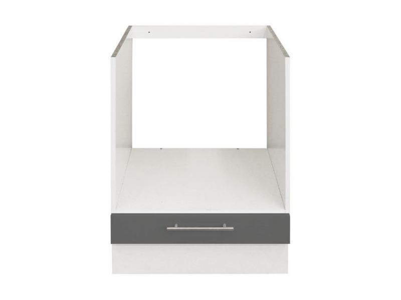 el ment bas 60 cm gris four pas cher. Black Bedroom Furniture Sets. Home Design Ideas