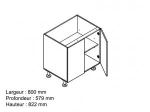 Element bas 80 cm blanc