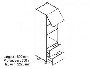 Colonne 60 cm four blanche