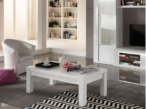 Table basse Venezia blanc et gris