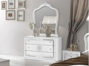 Miroir Luisa blanc