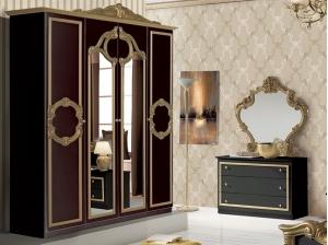 Armoire Barocco noire et or