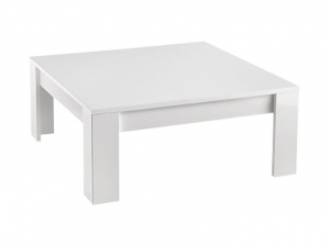 Table basse carrée Modena blanche