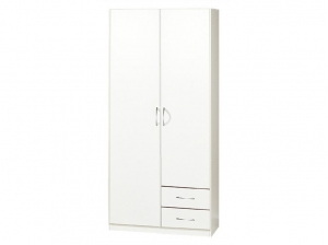 Armoire Sprint 2P 2T blanche
