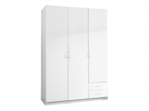 Armoire Sprint 3P 2T blanche