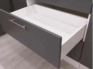 Elément bas 80 cm tiroirs gris